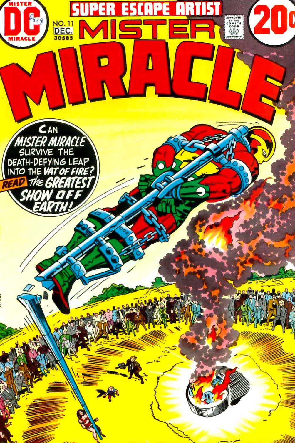 Mister Miracle v1 #11 dc 1970s bronze age comic book cover art by Jack Kirby