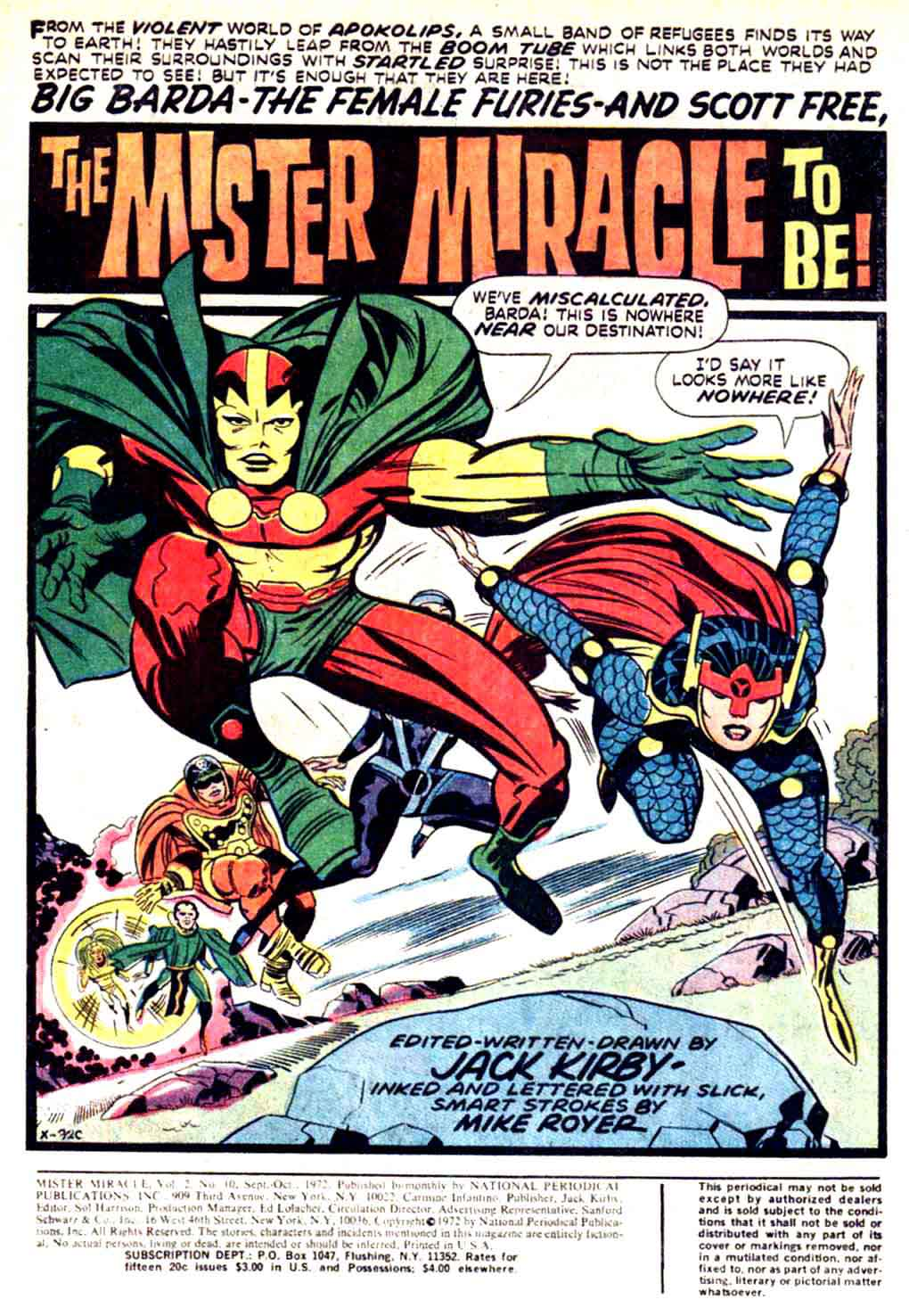 Mister Miracle v1 #10 dc 1970s bronze age comic book page art by Jack Kirby