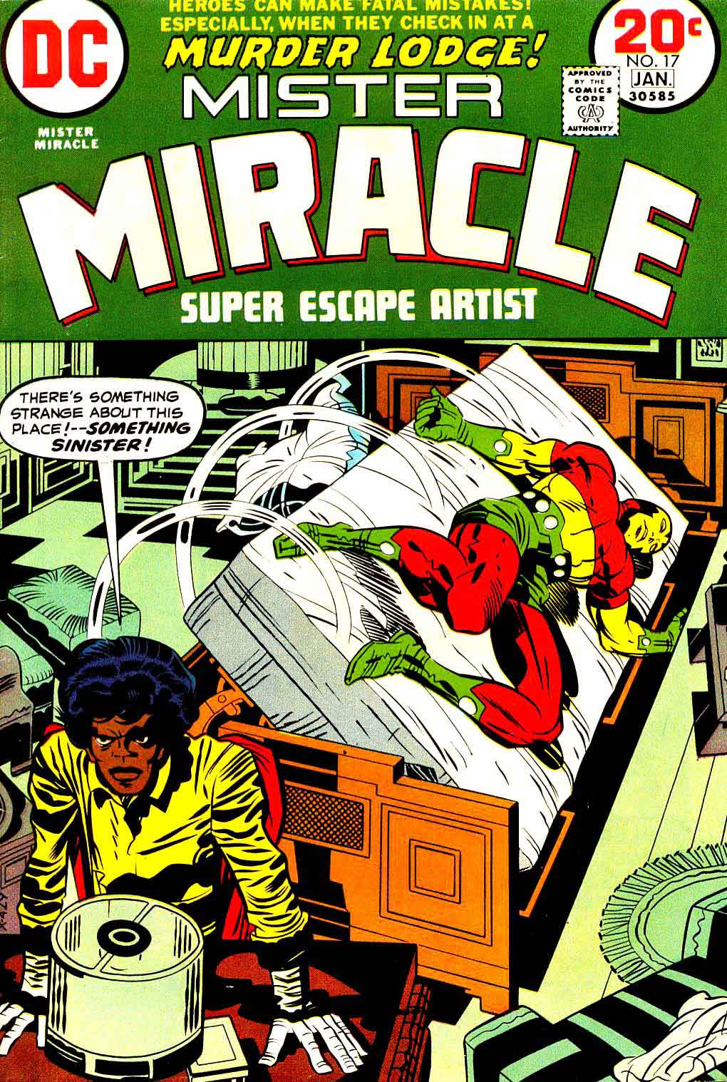Mister Miracle v1 #17 dc bronze age comic book cover art by Jack Kirby