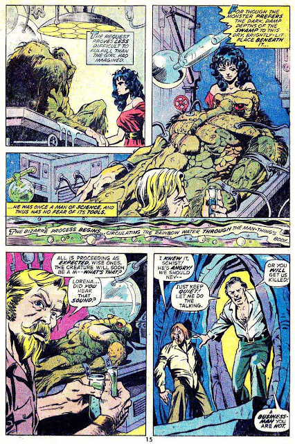 Man-Thing v1 #8 marvel 1970s bronze age comic book page art by Mike Ploog
