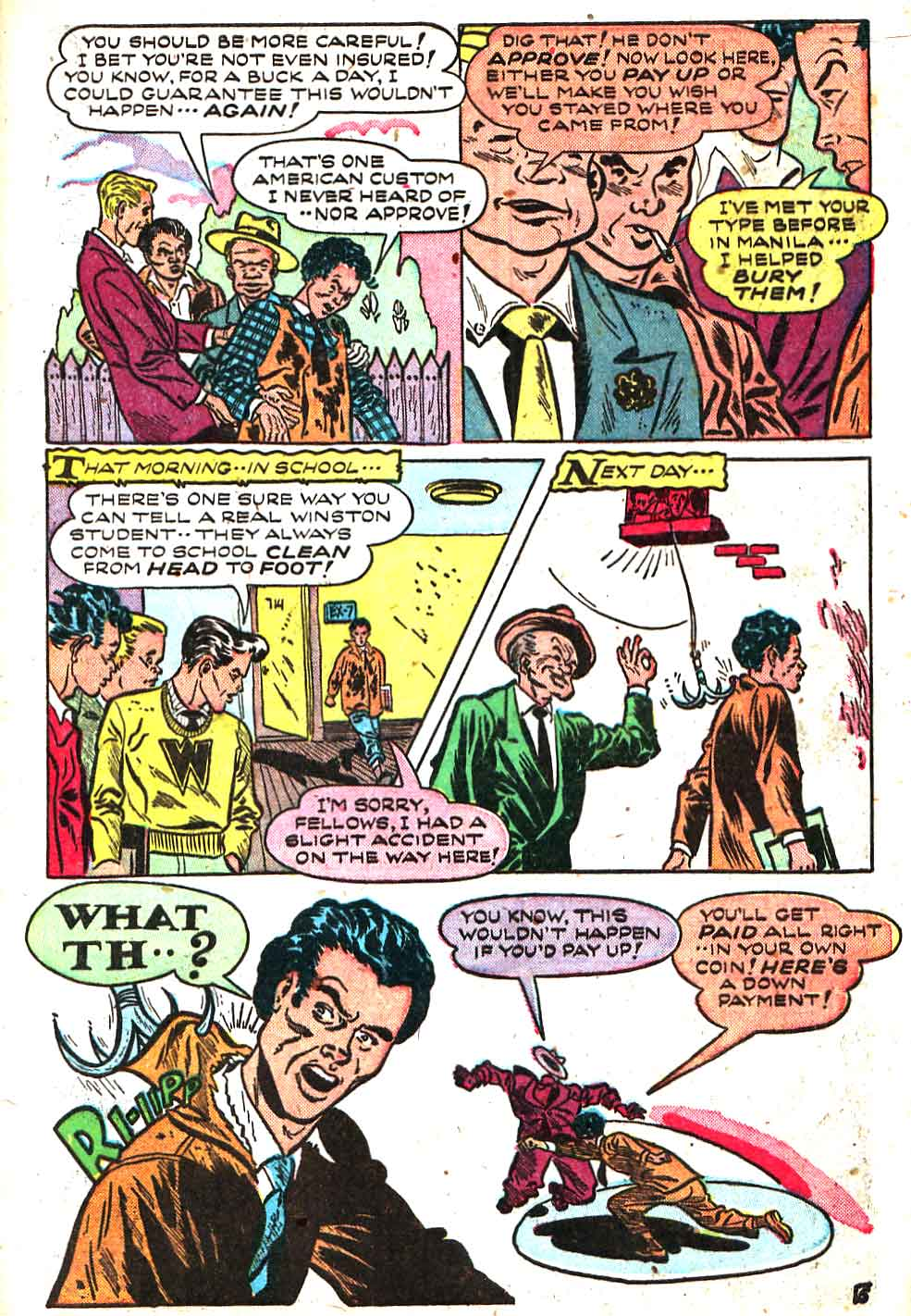 Sugar Bowl v1 #1 golden age comic book page art by Alex Toth
