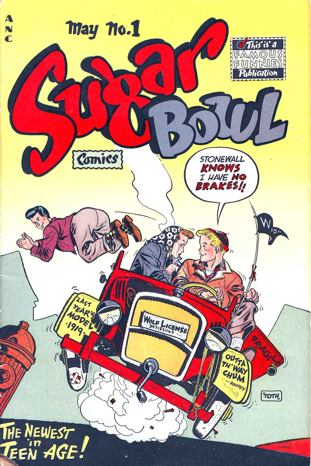 Sugar Bowl v1 #1 golden age comic book cover art by Alex Toth
