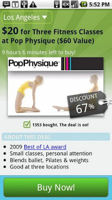 Groupon Android App.