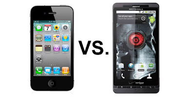 iPhone 4 vs Droid X.
