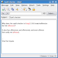 Kmail spell checker