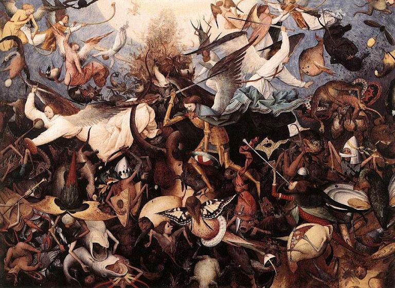 Queda dos anjos rebeldes. Pieter Bruegel o Velho (1525-1569), Royal Museums of Fine Arts, Bruxelas
