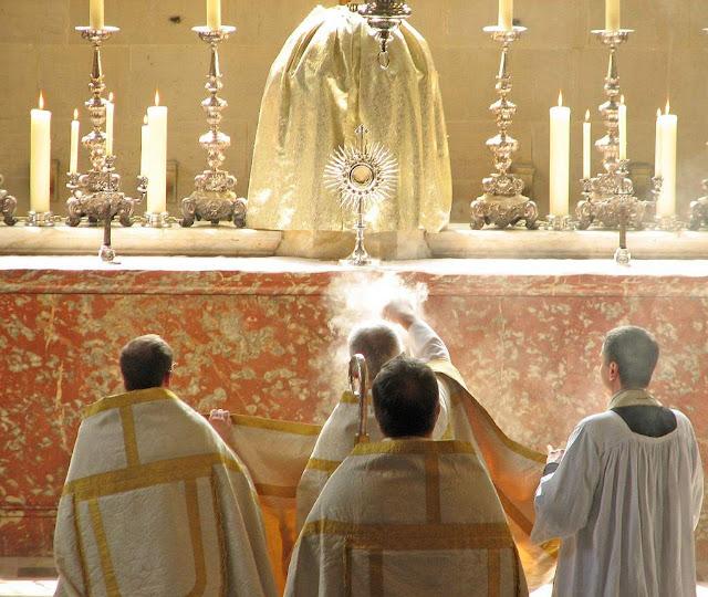 Adoração, Corpus Christi, priorado de Blackfriars, Inglaterra, dos padres dominicanos