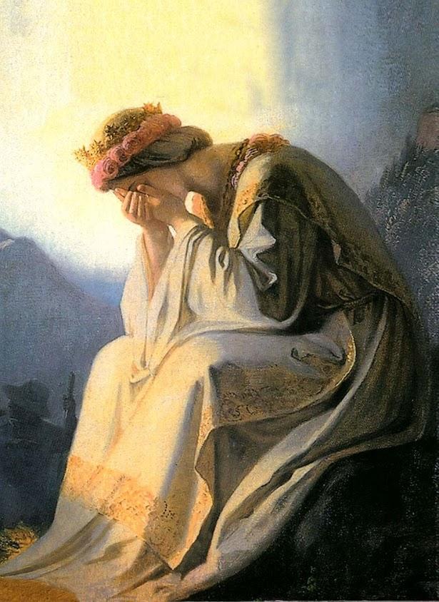 O pranto de Nossa Senhora em La Salette, mosteiro de Einsiedeln