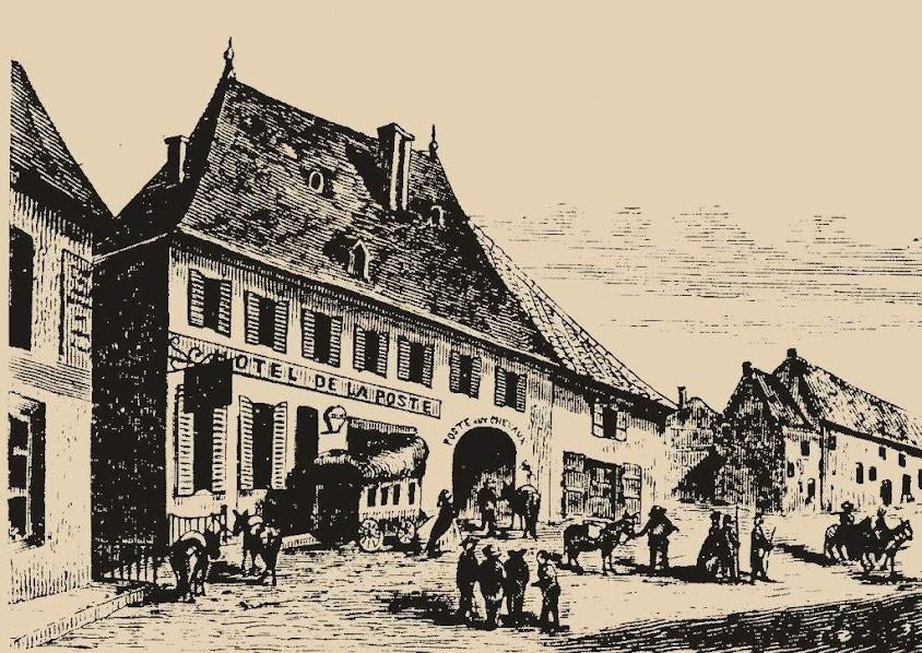 Hotel de la Poste em Corps: centro de reunião pois lá chegavam as carruagens e os jornais