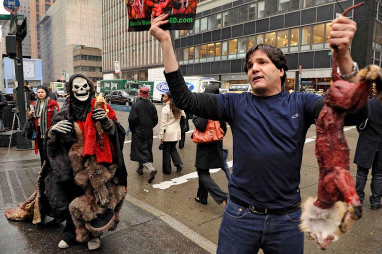 Manifestação ecologista pelos animais