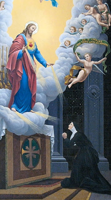 Sagrado Coração de Jesus aparece a Santa Margarida Maria Alacocque, basílica do Sagrado Coração de Jesus, São Paulo