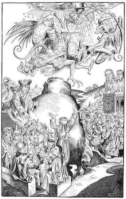 O Anticristo prega enganando os homens, mas acaba jogado no inferno