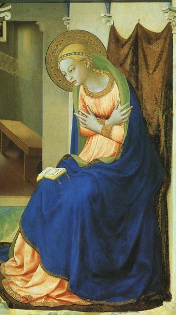 Anunciação, Museu do Prado, Madri. Fra Angélico. Nossa Senhora