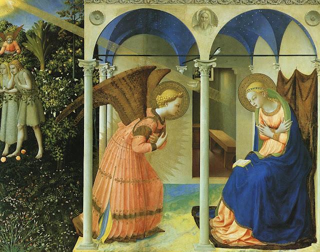Anunciação, Fra Angelico, Museu del Prado, Madri