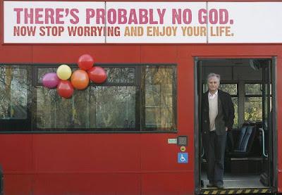 Richard Dawkins no 'ônibus ateu'