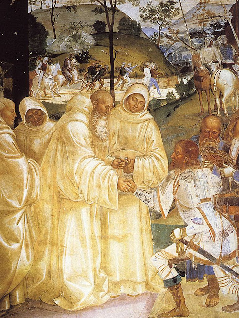 São Bento recebe a conversão do rei pagão Totila