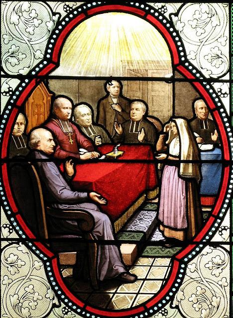 Santa Bernadette interrogada pela Comissão de Inquérito eclesiastica