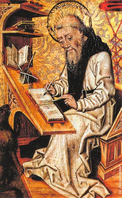 Monge copista medieval