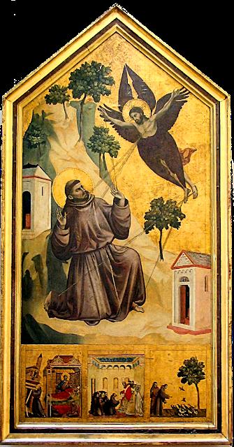 """São Francisco recebe os estigmas, <span class=""""st""""><em>Giotto</em> di Bondone (1267 — 1337), Museu do Louvre"""