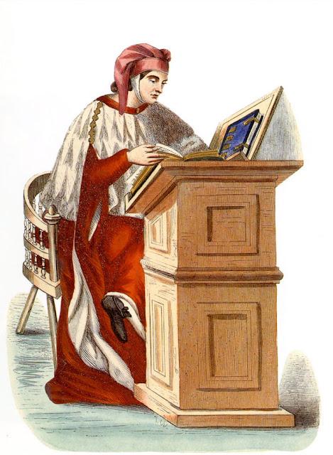 Jovem doutor em leis, do século XV