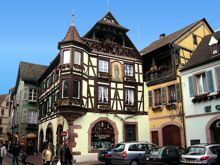Aldeia de Kayserberg, Alsácia, França