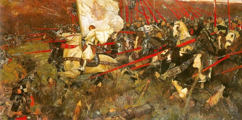 Santa Joana d'Arco na batalha de Patay.  Franck Craig (1874-1918), Musée d'Orsay, Paris.