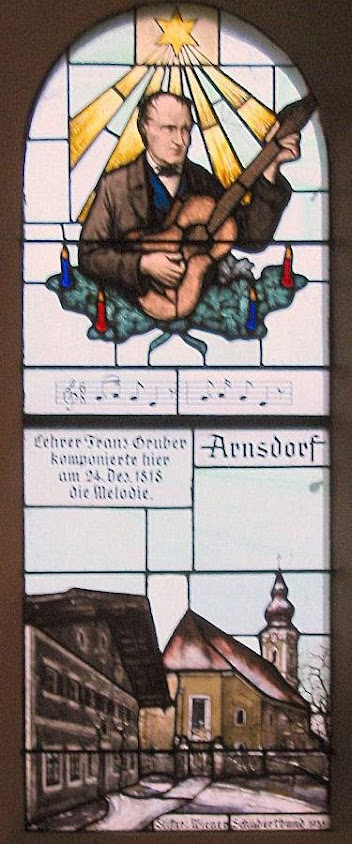 Vitrais da capelinha de São Nicolau,  Oberndorf (Áustria) contam  a origem da famosa canção