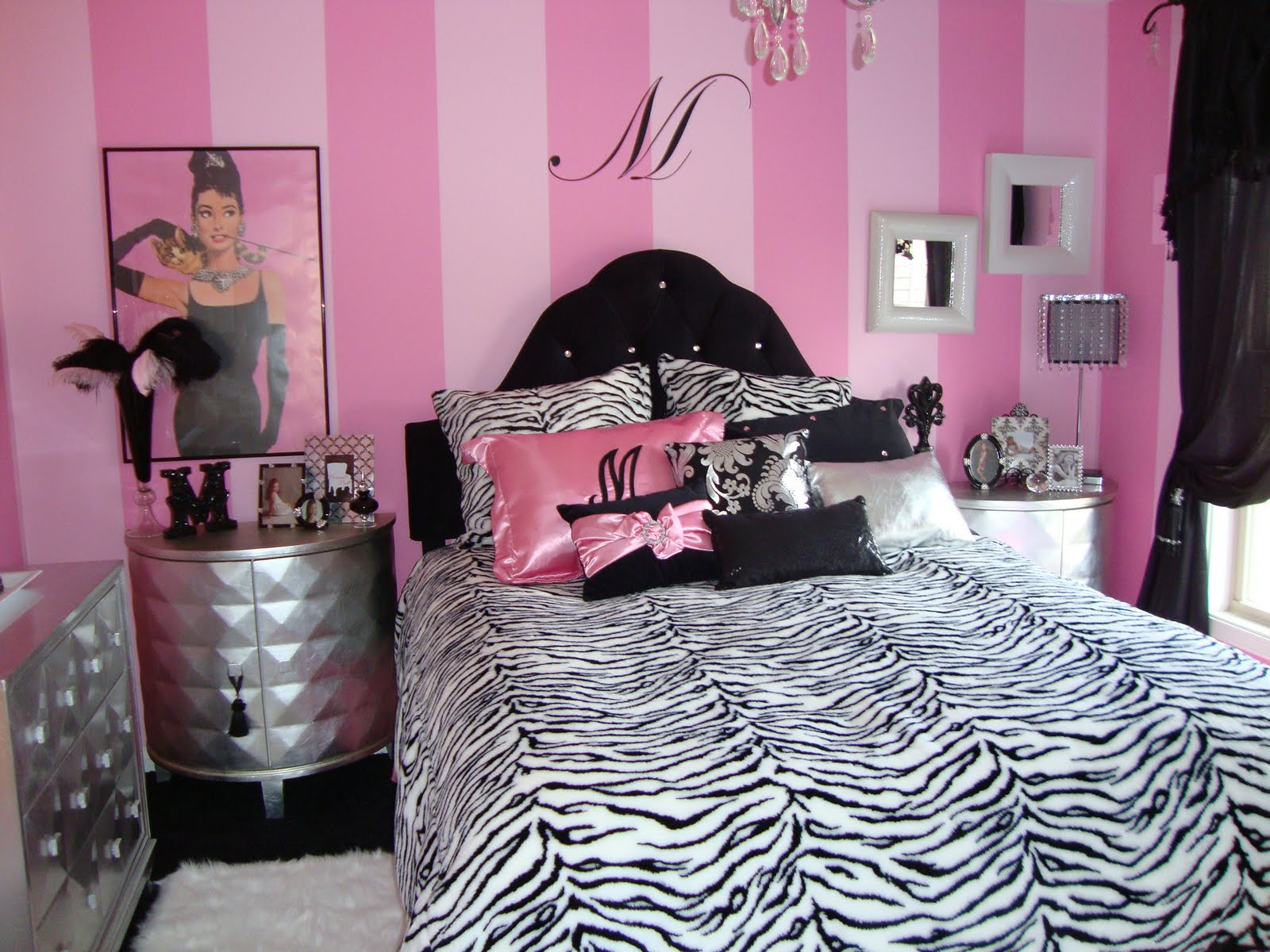 Pink and white bed sets - Pink Black And Silver Bedroom Designs Ideas Pink Black White Bedroom Decor Mark Cooper Research