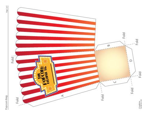Popcorn Bags Popcorn Bags Printable