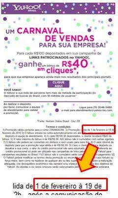 De 1 a 19 de Fevereiro tem promoção do Yahoo