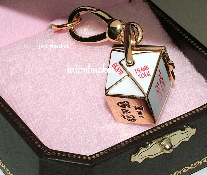 Orange Juicy Couture Charm