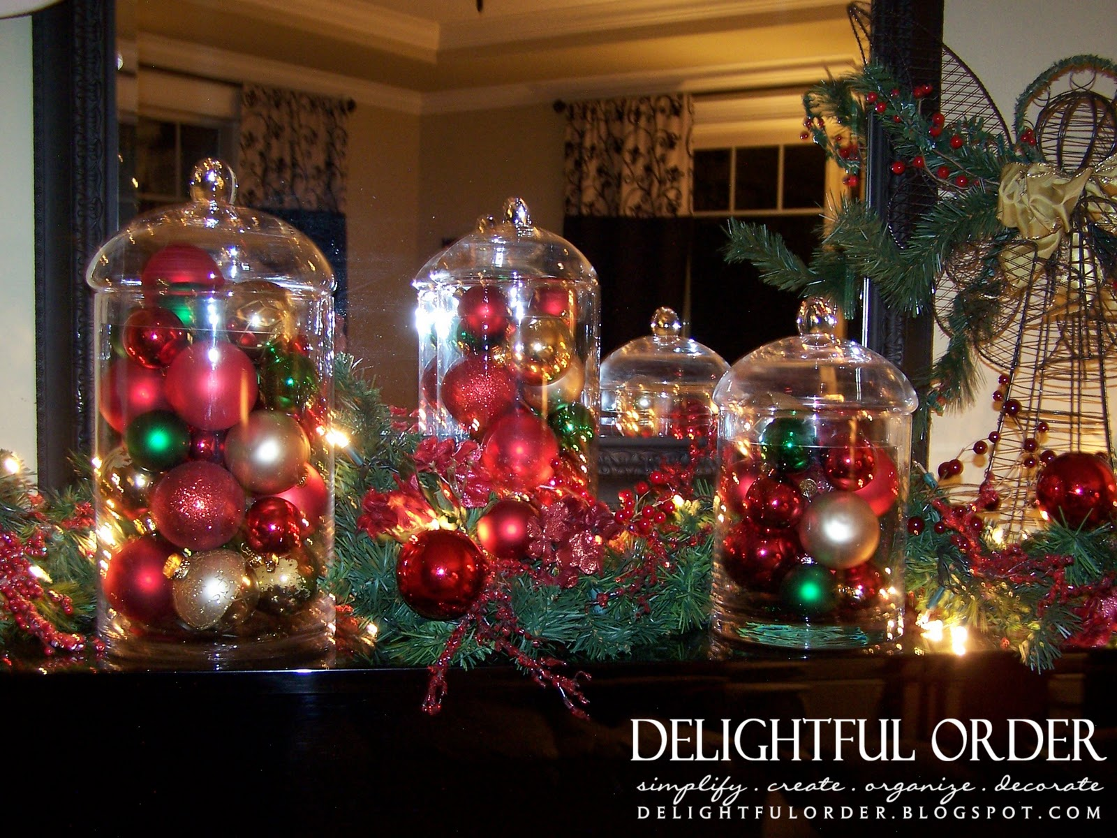 Delightful Order: Christmas Ornament Glass Jars
