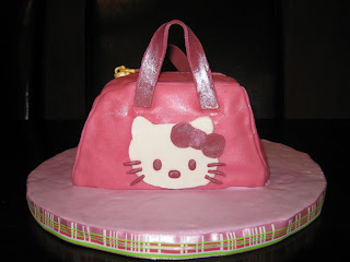 Thought I Would Share My Latest Creation A Hello Kitty Purse Cake Was Lot Of Fun To Make