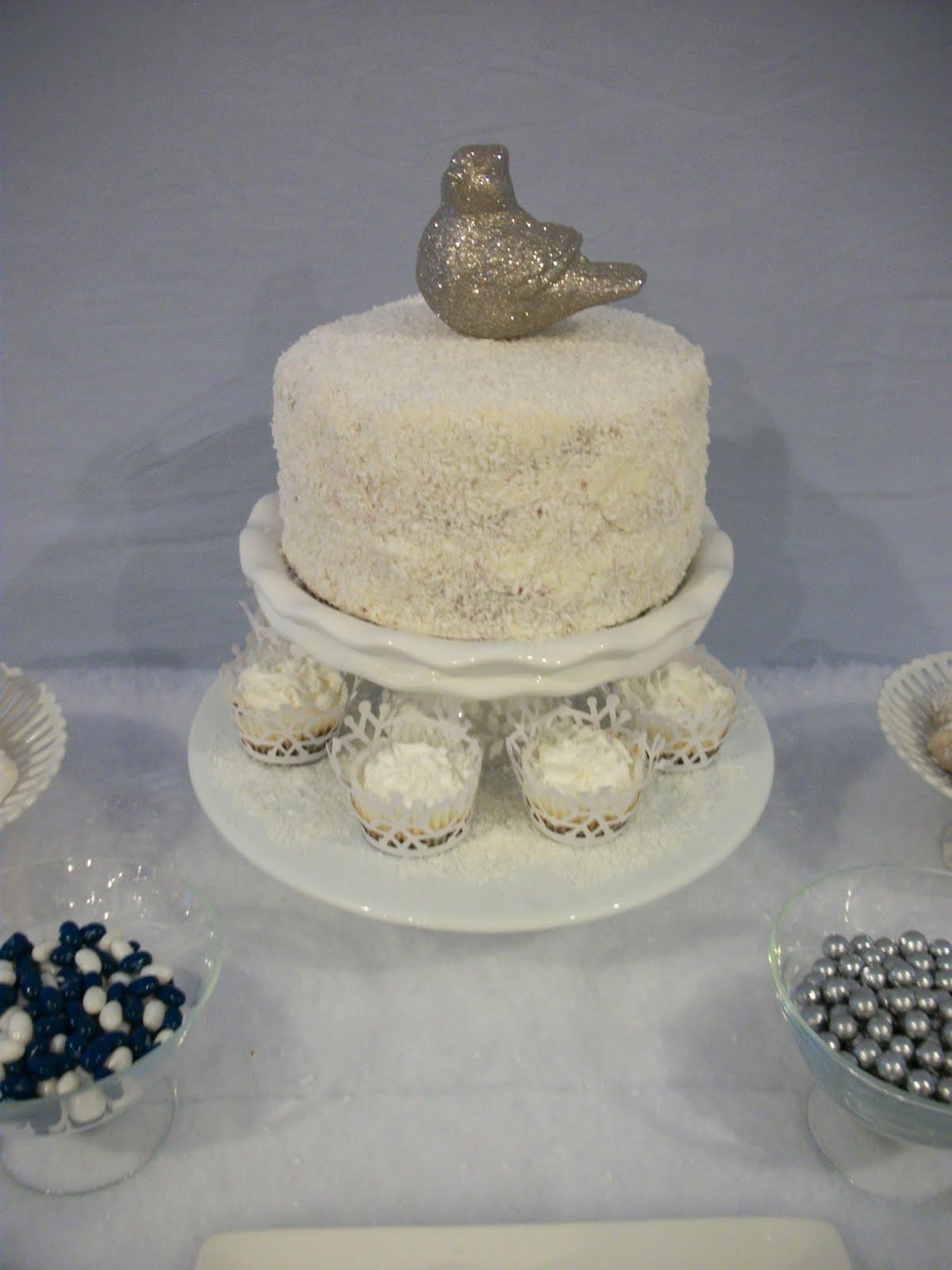 Candy And Cake Winter Wonderland Dessert Table