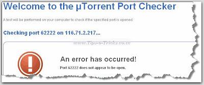Port-Not-Open-Message