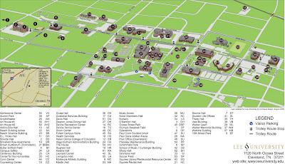Lee University Map The Editor's Weblog: Nemesi Series: Campus Maps