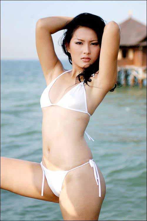 Photo Cewek Sexy Cewek Hot  Sexy In White Bikini-9101