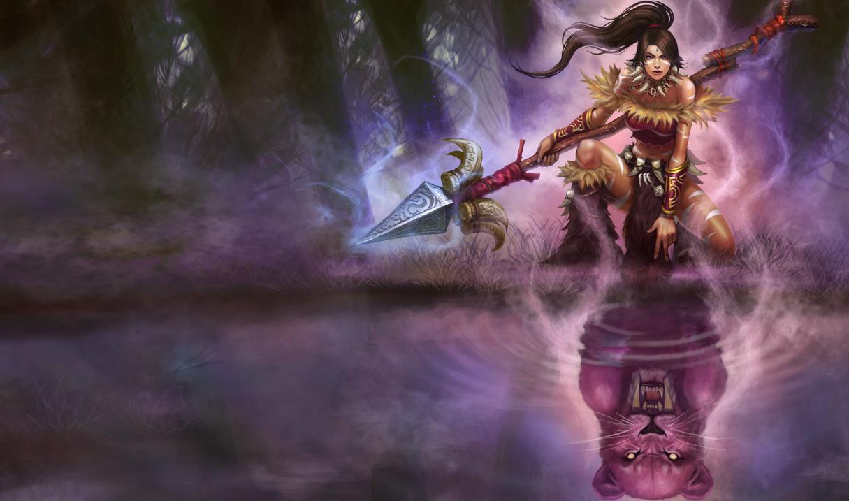League of Legends Wallpaper: Nidalee - The Bestial Huntress