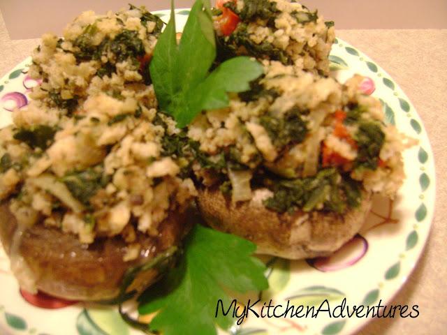 Vegetable Stuffed Mushrooms