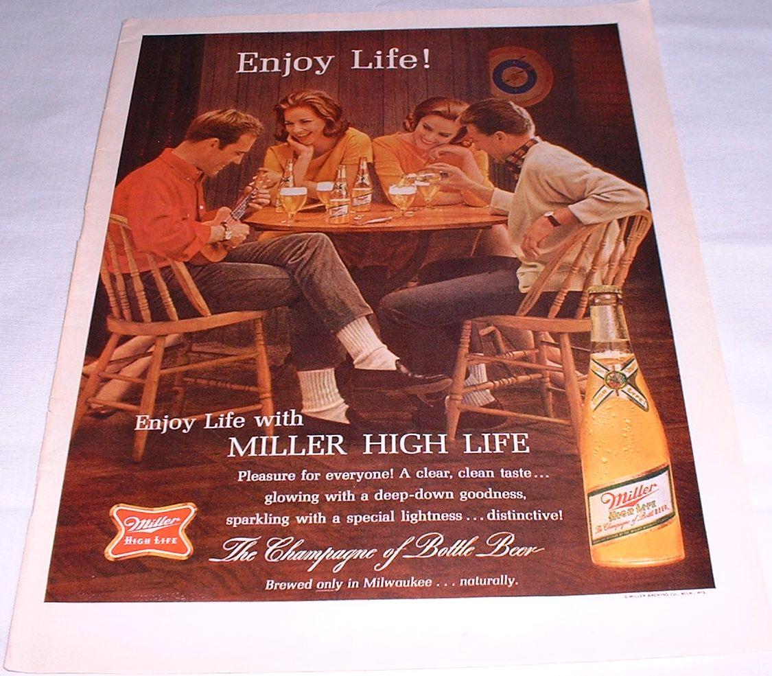 1964 Miller Beer Magazine Ad   Old Magazine Ads