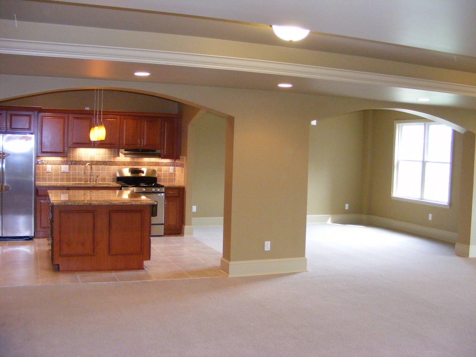 Lighting Basement Washroom Stairs: MHI Interiors: Novi Basement Remodel