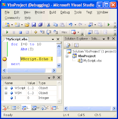 Blogs By Kresten: VBScript Projects in Visual Studio