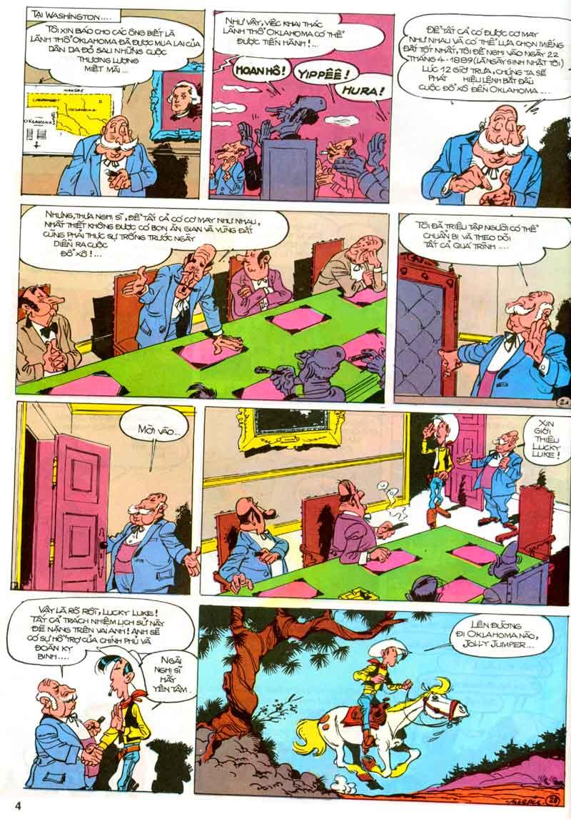 Lucky Luke tập 23 - cuộc đổ xô tới oklahoma trang 4