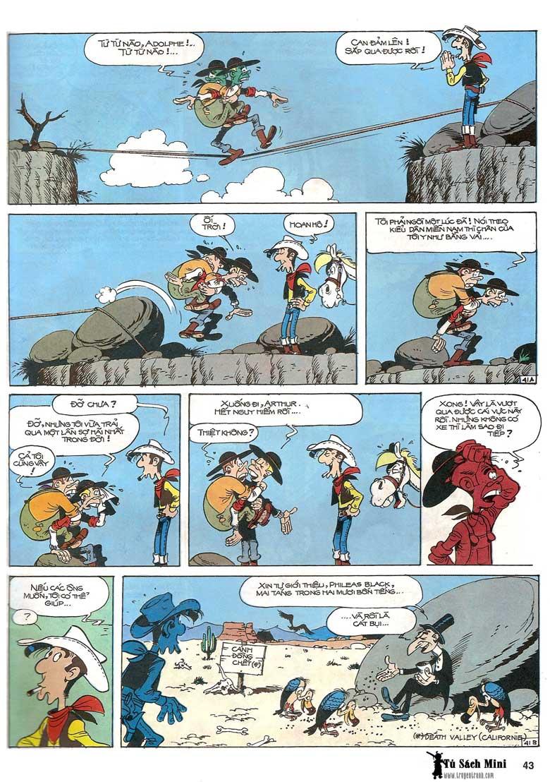Lucky Luke tập 24 - tướng cướp một tay trang 45