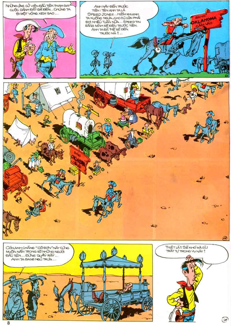 Lucky Luke tập 23 - cuộc đổ xô tới oklahoma trang 8