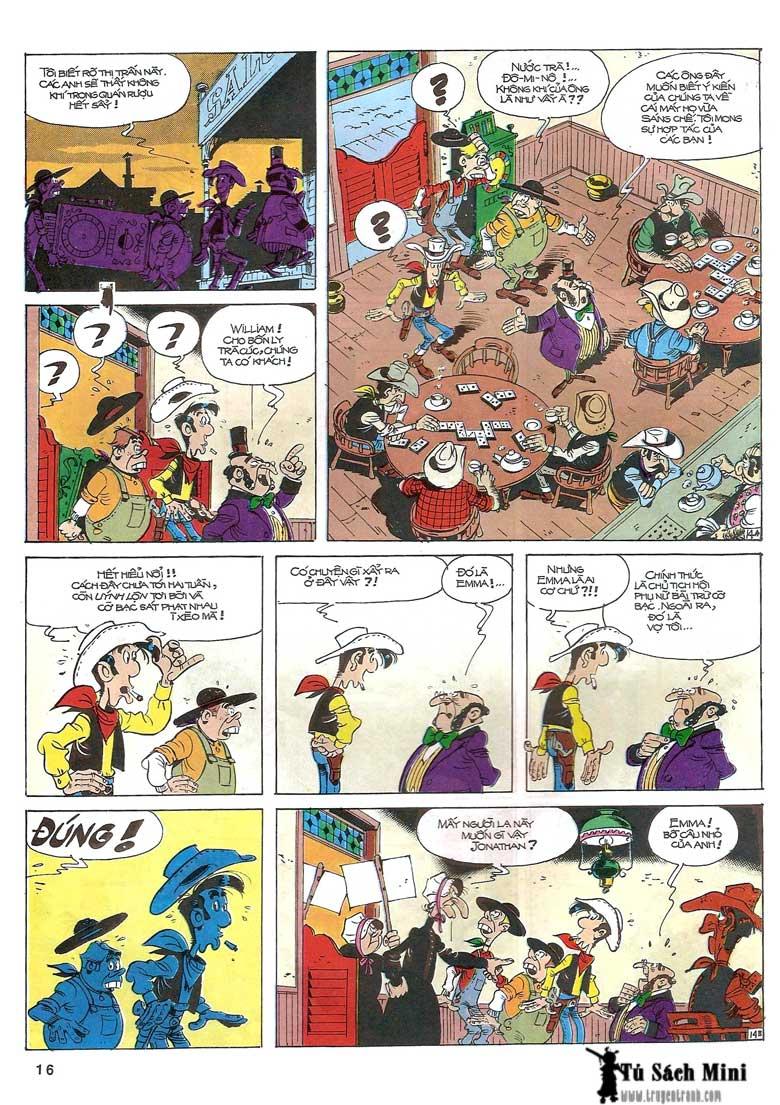 Lucky Luke tập 24 - tướng cướp một tay trang 18