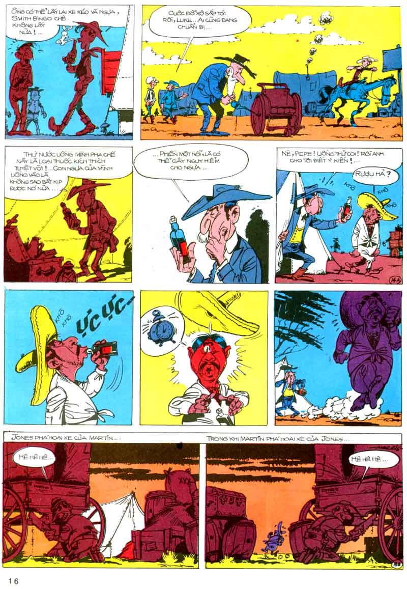 Lucky Luke tập 23 - cuộc đổ xô tới oklahoma trang 16