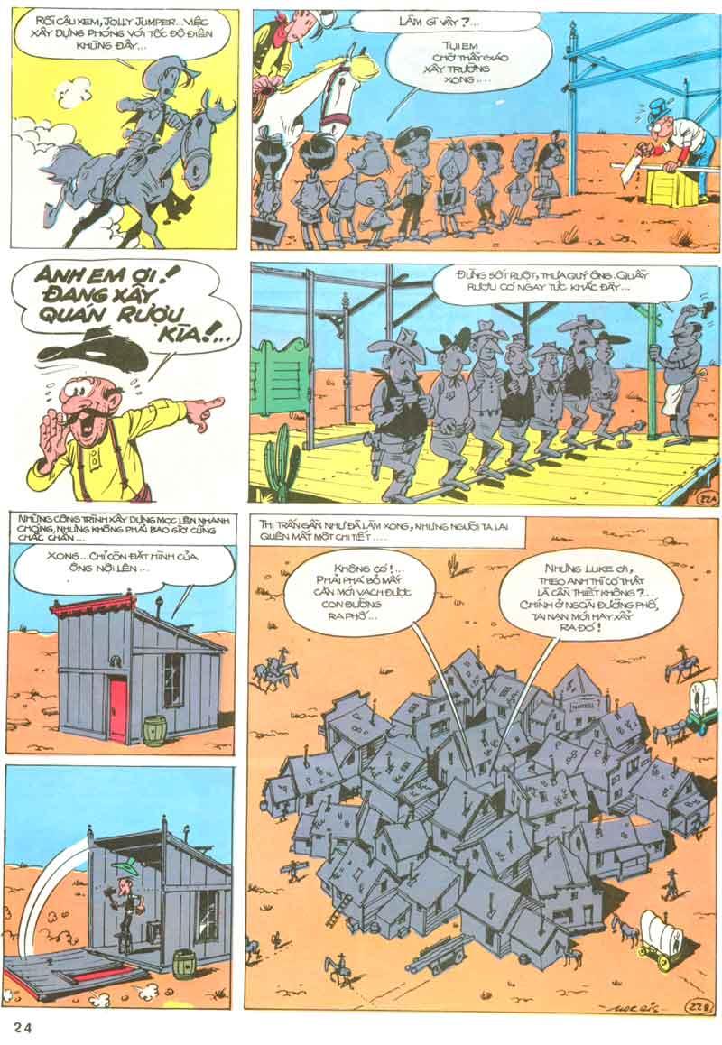 Lucky Luke tập 23 - cuộc đổ xô tới oklahoma trang 24
