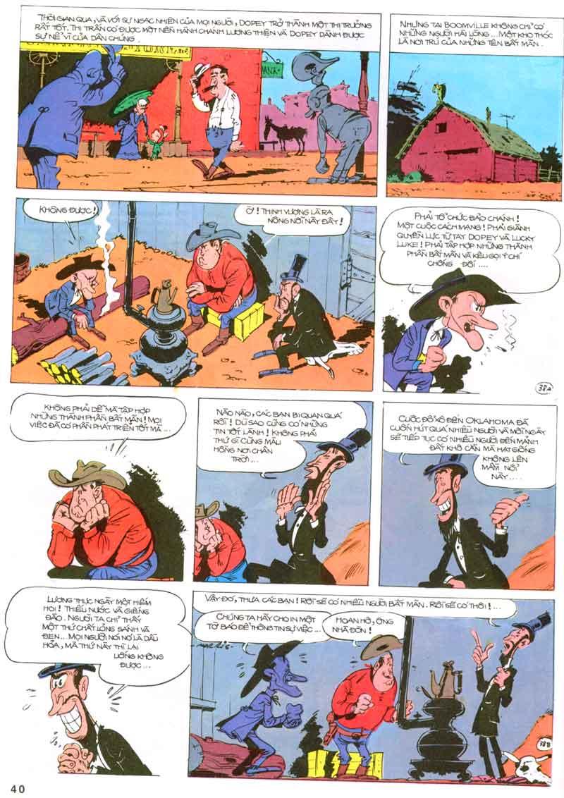 Lucky Luke tập 23 - cuộc đổ xô tới oklahoma trang 40