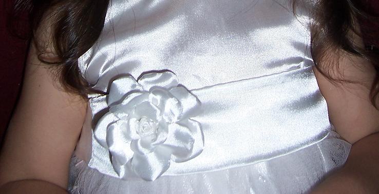 Fajas con flores para vestidos de fiesta